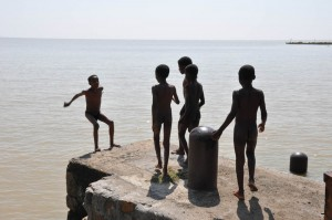 Ethiopian kids in Lake Tana