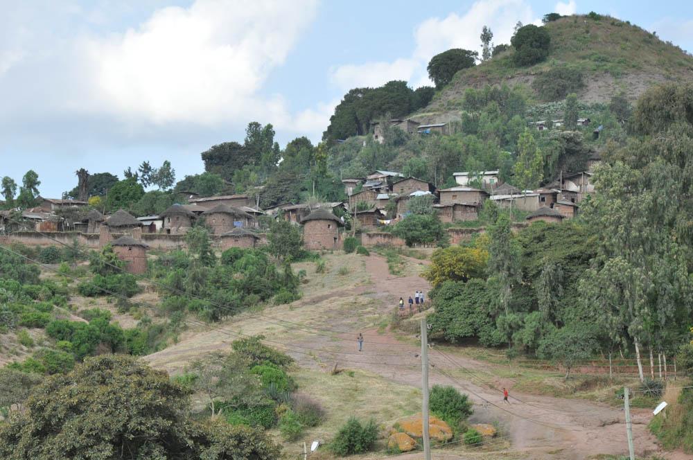 Tukul houses in Lalibela