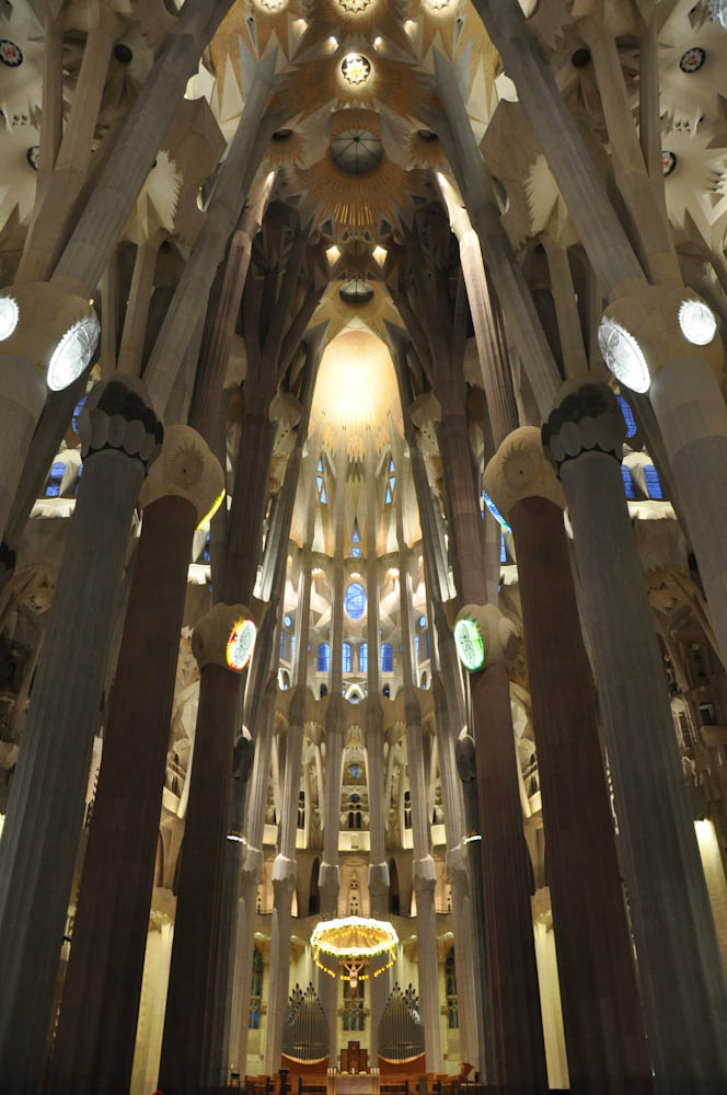 La Sagrada Familia, cathedral designed by Gaudi