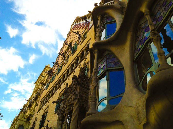 Batllo House by Gaudi, in Barcelona