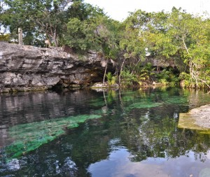 Cenote Cristalino - Wonderfully cool to dip yourself in