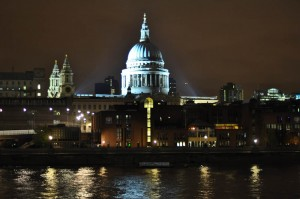 Beautiful city lights in London