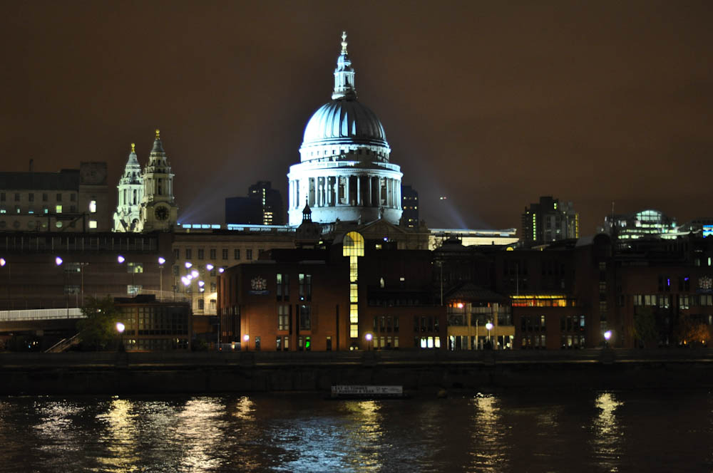 Beautiful city lights in London