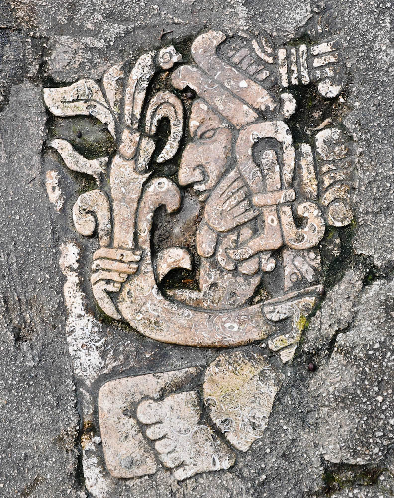 Detail of Mayan ruins in Yucatan