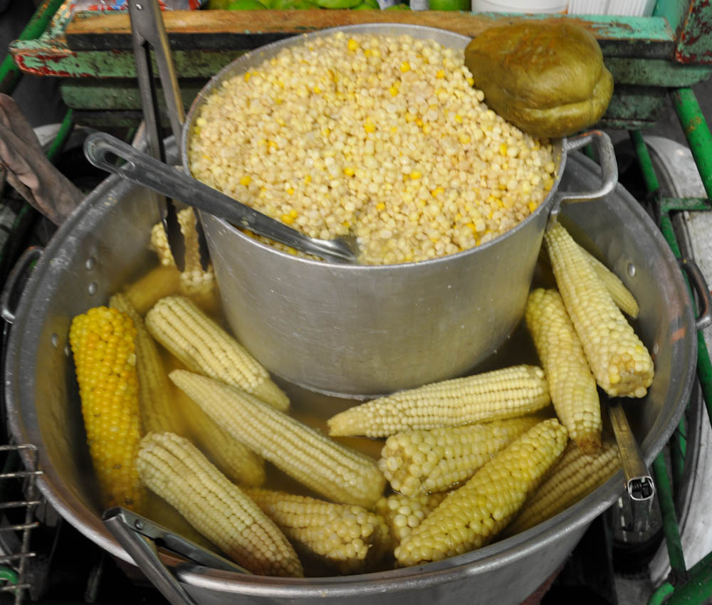 Boiled corn from a street cart in Tuxta Gutierrez