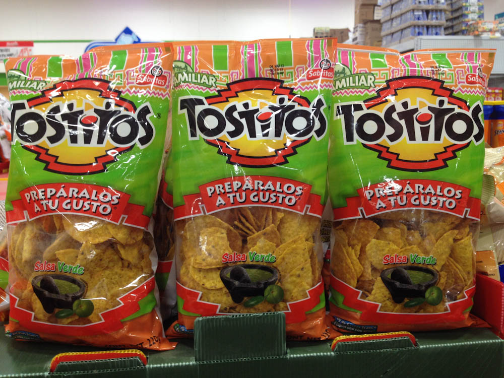 Packaged totopos. You can also get fresh ones everywhere and each restaurant tends to make their own.