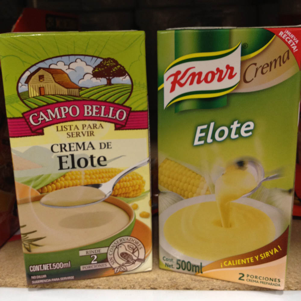 For starters... cream of corn soup!