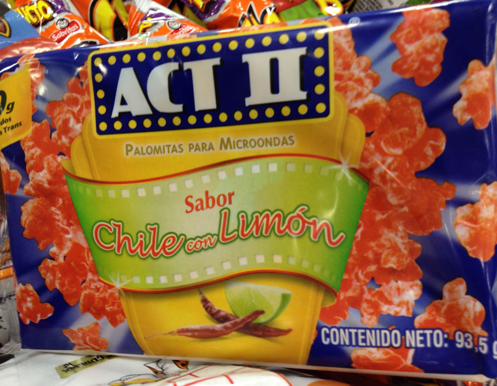 Act II: chilly flavoured pop-corn!