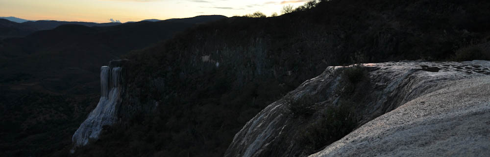 Hierve el agua after sunset