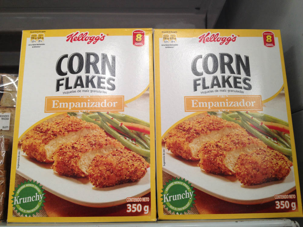Instead of bread crumbs, use corn flakes!