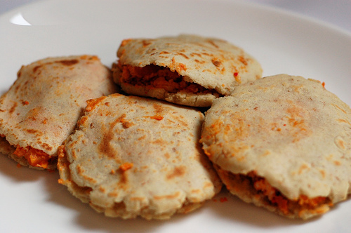 Gorditas: corn meal pockets stuffed with the usual, meat, beans, cheese...