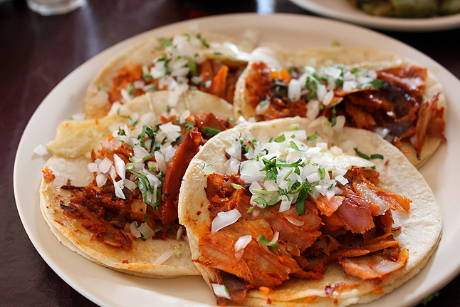 Original tacos have nothing to do with fast food joins! The tortillas are very soft, not at all crispy!