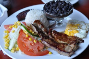Casados: typical food in Costa Rica