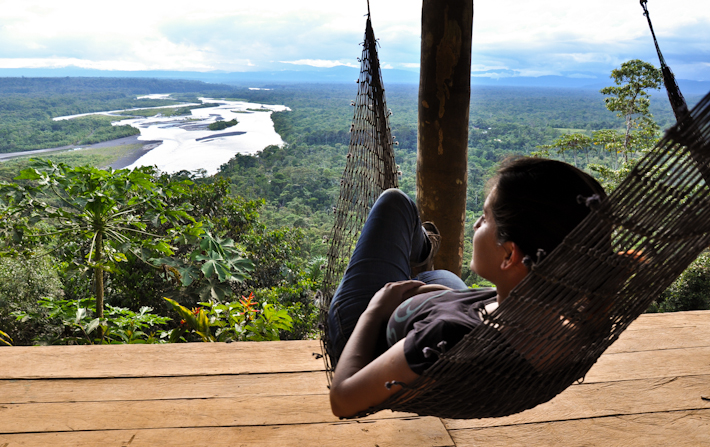 Looking out over the Amazon
