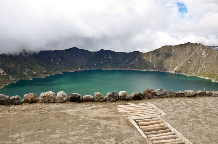 The Quilotoa Crater Lake