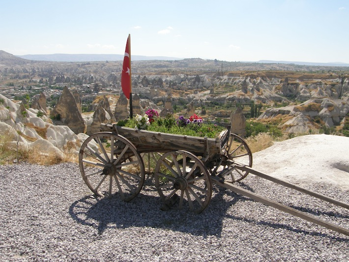 Looking out over Cappadocia