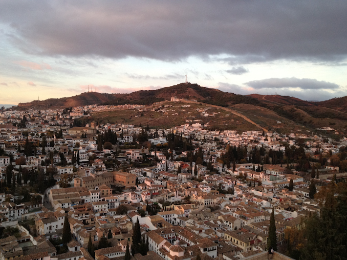 Granada from the towers of the Al Hambra