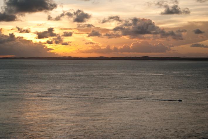 The sun setting in Salvador