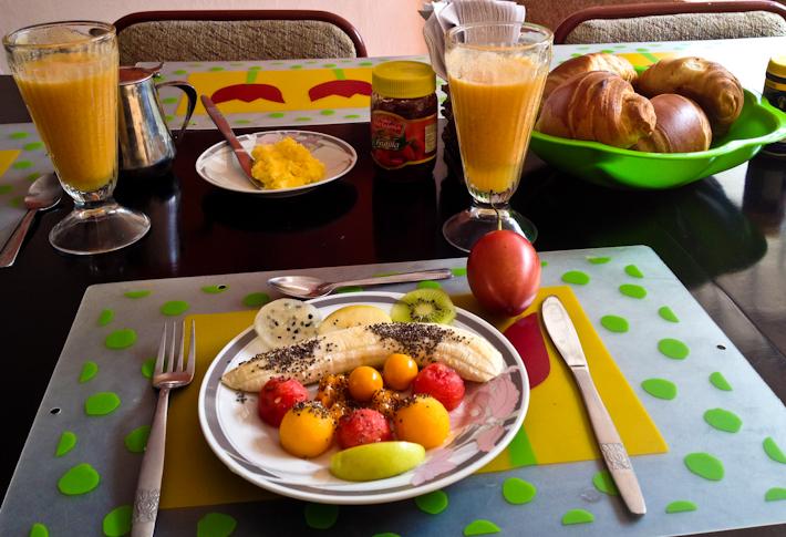 Breakfast in Ecuador