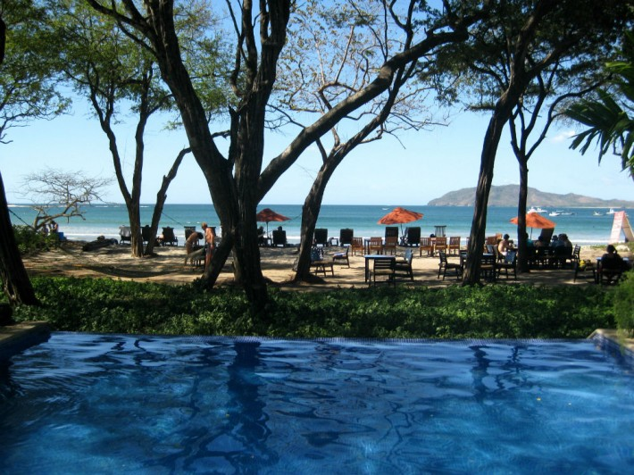 Ocean View from the Pool at the Longasta Beach Club Costa Rica