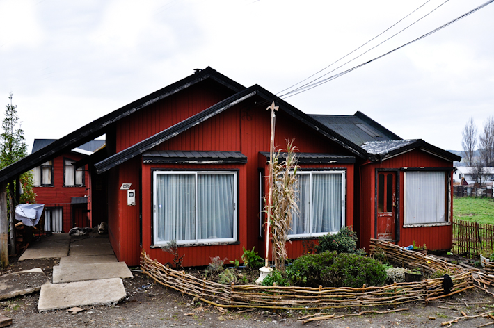 Typical houses in Chiloe Island