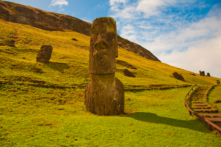 "Iorana means ""greetings"" in the local Polynesian language of Easter Island"