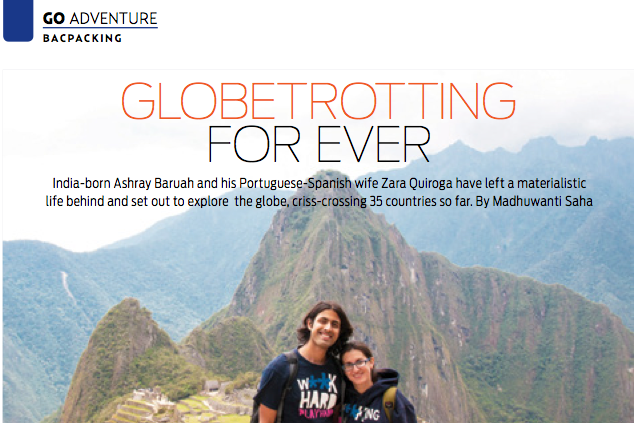Backpack ME featured on Go Getter, GoAir's inflight magazine