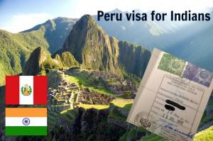 Peru visa for Indians