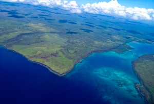 Aerial view Galapagos Islands