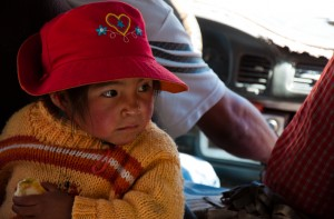 Andean girl in Colca Valley