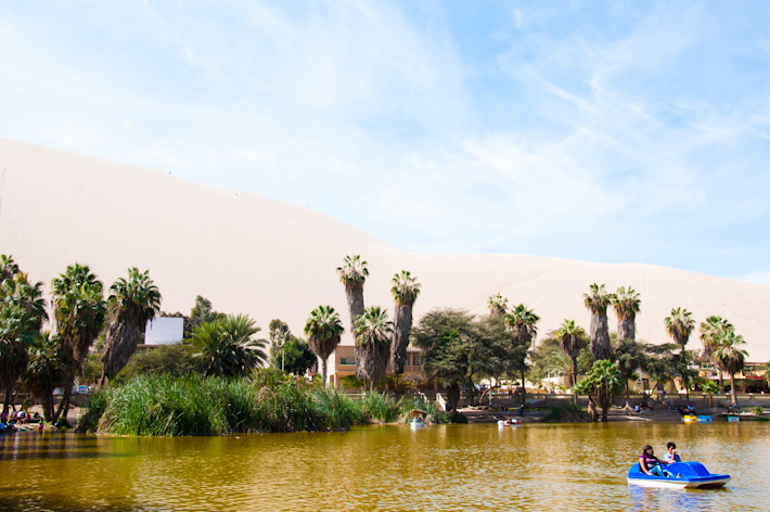 Huacachina Oasis in Ica, Peru