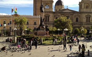 Plaza Murillo in La Paz, Bolivia