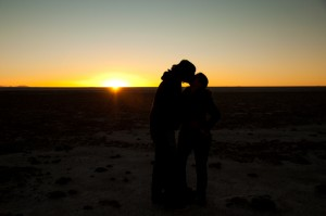 Sunset in Uyuni