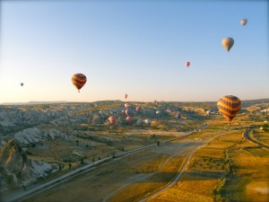 Flying over Cappadocia