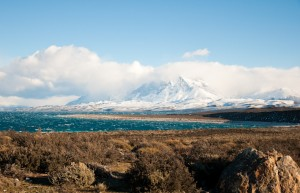 Landscape on the way to Torres del Paine