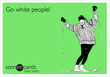 Travel cliches of white people