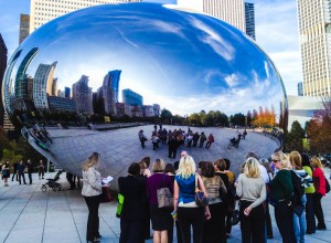Reflections on The Bean sculpture in Chicago