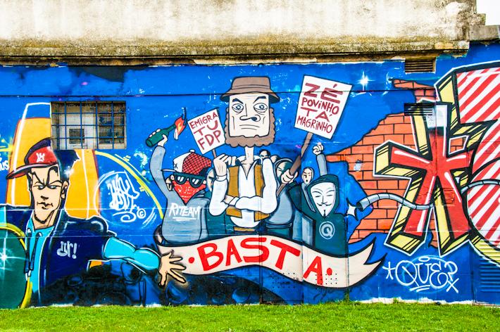 Ze Povinho Ta Magrinho graffiti, Lisboa