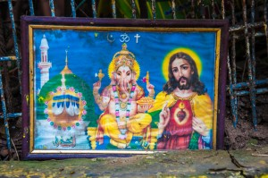 Multireligion painting