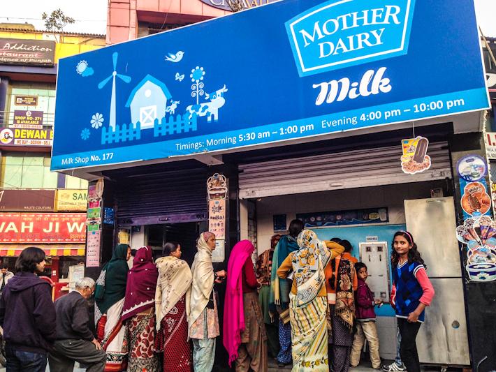 Mother Dairy in Dwarka, Delhi