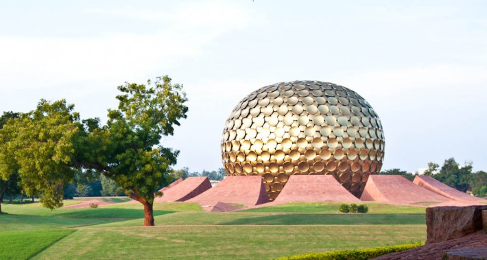 The Matrimandir in Auroville, India