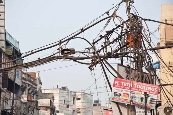 Electrical cables maze in India
