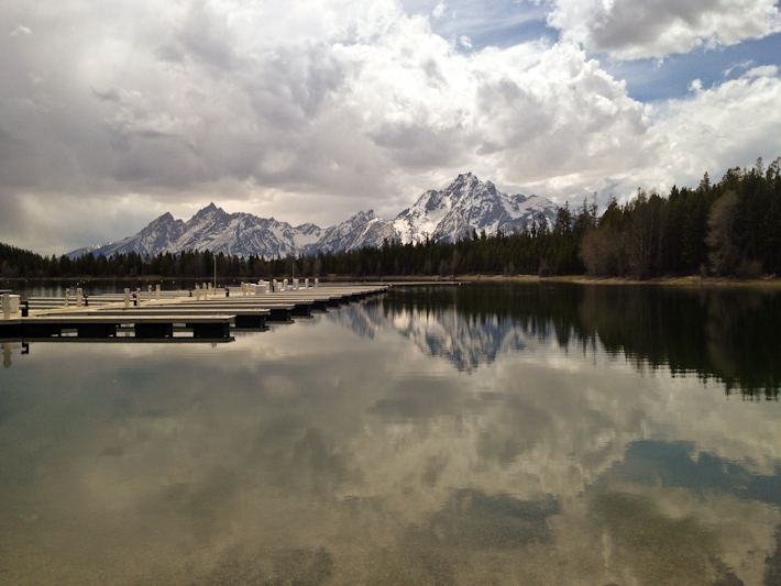 Grand Tetons over Jackson Lake