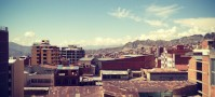 View over the tin roofs of La Paz.