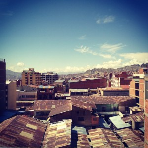 View over the tin roofs of La Paz