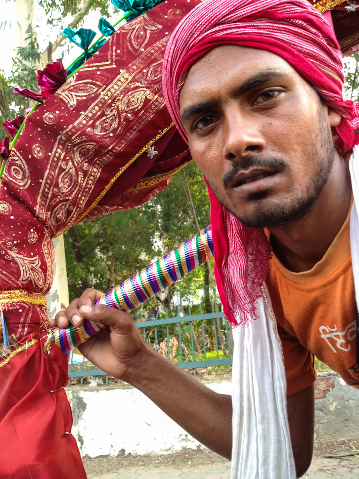 Indian pilgrim in Delhi