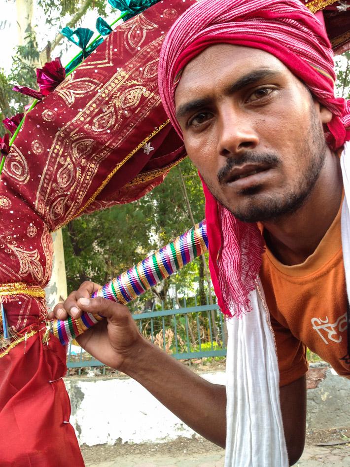 Indian pilgrim in Delhi