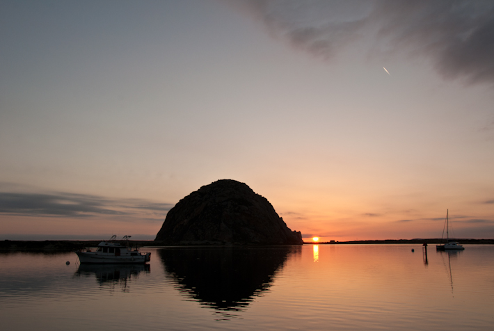 Sunset over Morro Bay