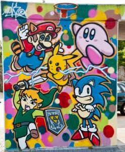 Videogames graffiti in Spain