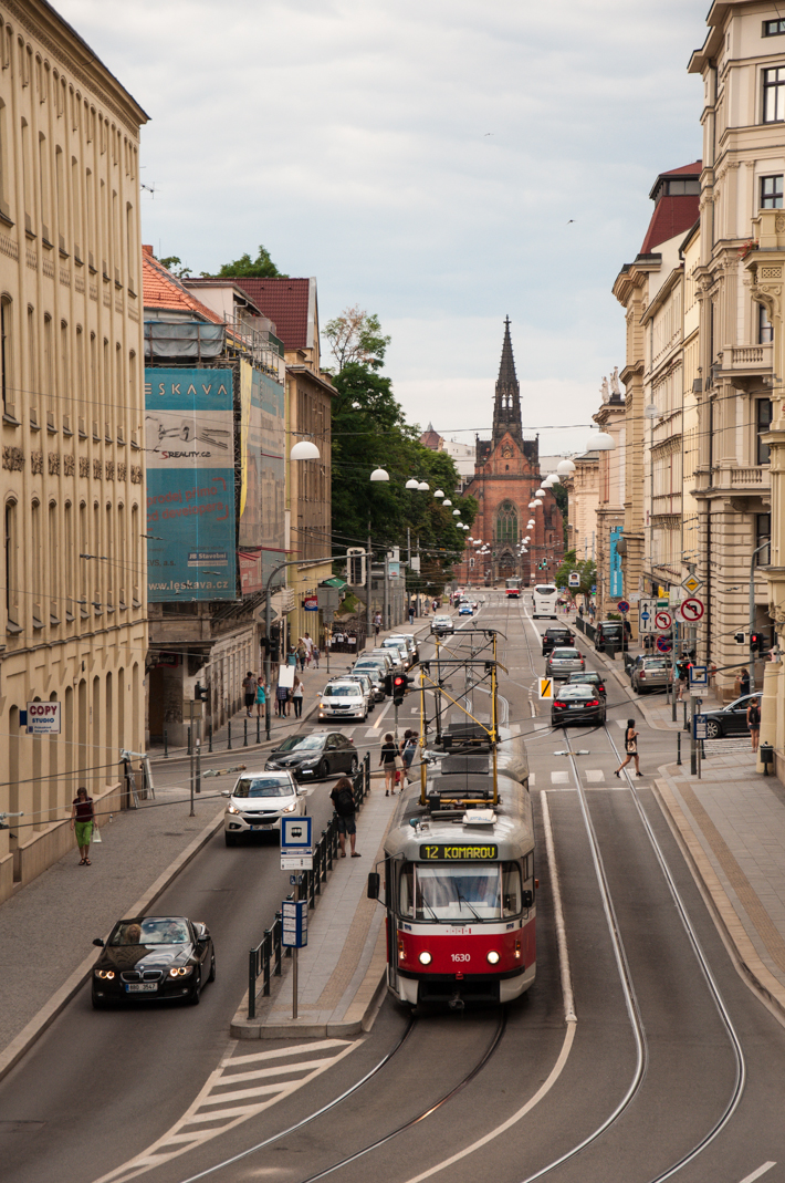 The streets of Brno